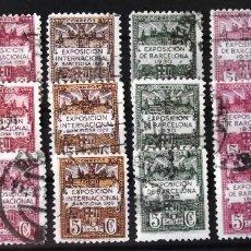 Sellos: BARCELONA, EDIFIL 1-6, 3 SERIES COMPLETAS EN USADO.. Lote 129681359