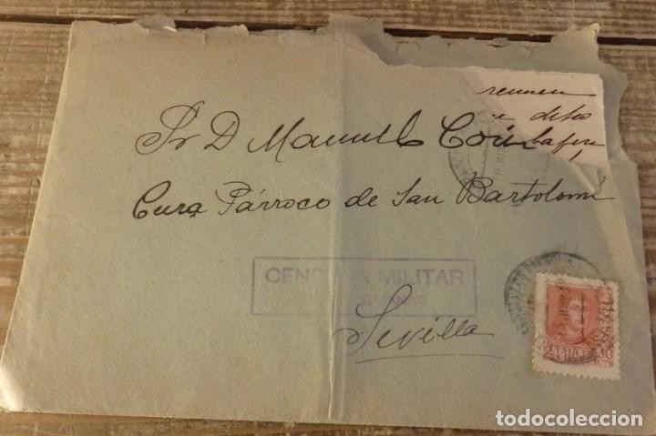 DOS HERMANAS, 1938, CARTA CIRCULADA CON CENSURA MILITAR (Sellos - España - Guerra Civil - De 1.936 a 1.939 - Cartas)