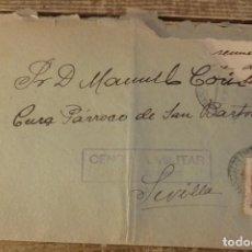 Sellos: DOS HERMANAS, 1938, CARTA CIRCULADA CON CENSURA MILITAR. Lote 129700287
