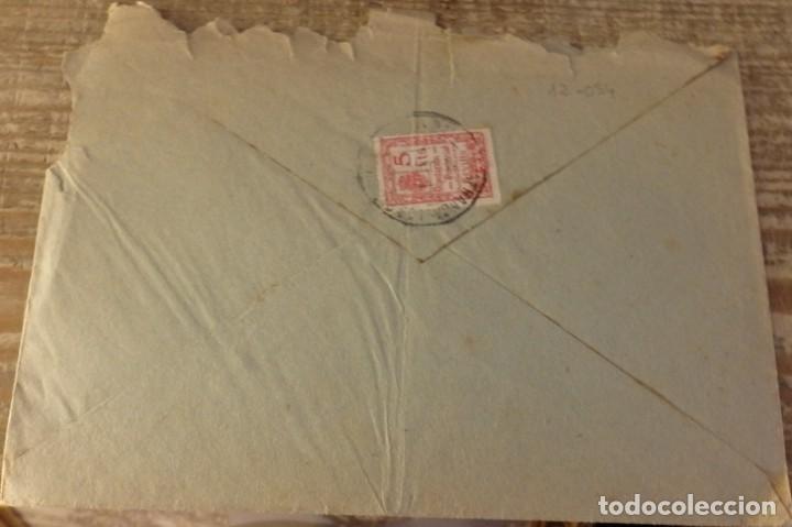 Sellos: DOS HERMANAS, 1938, CARTA CIRCULADA CON CENSURA MILITAR - Foto 2 - 129700287