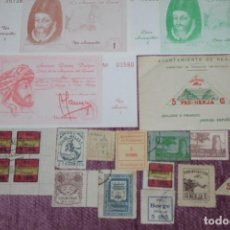 Sellos: LOTE SELLOS AXARQUÍA MÁLAGA +++ GUERRA CIVIL + AXARCOS +++ . Lote 129972967