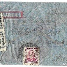 Sellos: 1938 (JUN) CARTA REPÚBLICA. MADRID A SUIZA CORREO AÉREO. GUERRA CIVIL. CENSURA. Lote 130025319