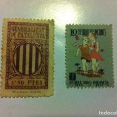 Sellos: GENERALITAT DE CATALUNYA - 2 SELLOS. Lote 130183579