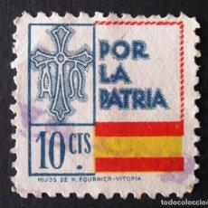 Sellos: VIÑETA, 10 CTS., MATASELLADO.. Lote 130320142