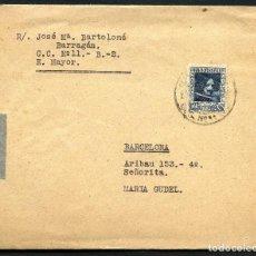 Sellos: GUERRA CIVIL, CARTA, CORREO DE CAMPAÑA, ESTADO MAYOR, 1938. Lote 130456494