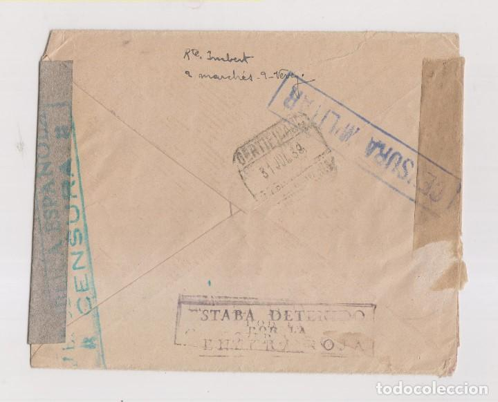 Sellos: RARÍSIMO SOBRE DE SUIZA A MADRID. CENSURA MILITAR Y MARCA ESTABA DETENIDO POR LA CENSURA ROJA. 1938 - Foto 2 - 130556330
