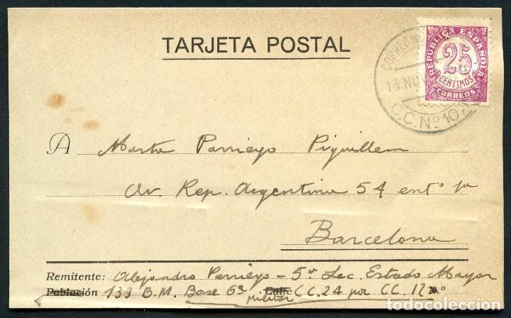 GUERRA CIVIL, TARJETA POSTAL, CORREO DE CAMPAÑA, 133 BRIGADA MIXTA, 1938 (Sellos - España - Guerra Civil - De 1.936 a 1.939 - Cartas)