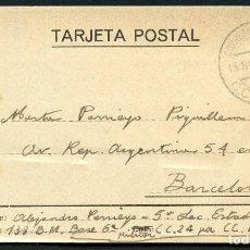 Sellos: GUERRA CIVIL, TARJETA POSTAL, CORREO DE CAMPAÑA, 133 BRIGADA MIXTA, 1938. Lote 130585330
