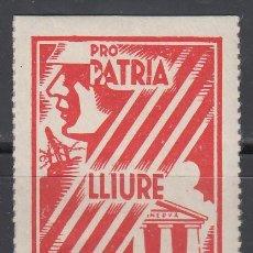 Sellos: PRO PATRIA LLIURE I CULTURA, BARCELONA 1397, 5 CTS . Lote 130856532
