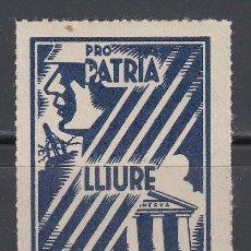Sellos: PRO PATRIA LLIURE I CULTURA, BARCELONA 1397, 5 CTS . Lote 130856648
