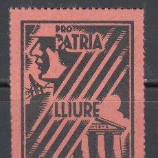 Sellos: PRO PATRIA LLIURE I CULTURA, BARCELONA 1397, 10 CTS . Lote 130856692