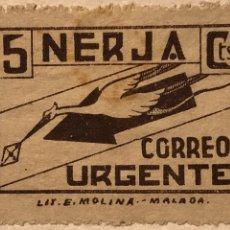 Sellos: SELLO LOCAL GUERRA CIVIL NERJA CORREO URGENTE 5 CTS. Lote 130879597