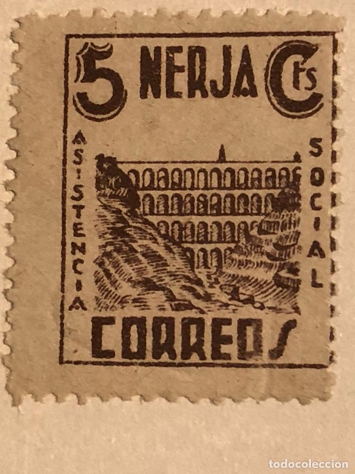 SELLO LOCAL GUERRA CIVIL NERJA ASISTENCIA SOCIAL 5 CTS (Sellos - España - Guerra Civil - Locales - Nuevos)