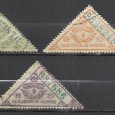 Sellos: 9082-LOTE SELLOS FISCALES CAJA POSTAL AHORROS 1918/30 USADOS 5,10,20 PESETAS,SPAIN REVENUE CLASSIC,F. Lote 130969332