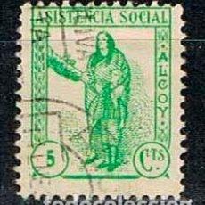 Sellos: ALCOY (ALICANTE), ASISTENCIA SOCIAL, USADO. Lote 130989028