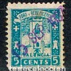 Sellos: PALENCIA: PARO Y BENEFICENCIA, USADO. Lote 130989224