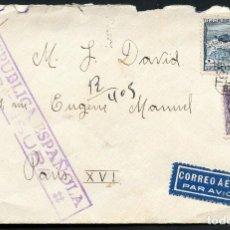 Sellos: GUERRA CIVIL, SOBRE, CORREO AÉREO, CERTIFICADO, EDIFIL: 769, BARCELONA, 1938. Lote 131072656