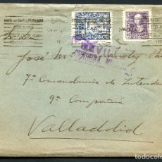 Sellos: GUERRA CIVIL POST, CARTA CON VIÑETA, 7º COMANDANCIA, VALLADOLID, 1939. Lote 131072736