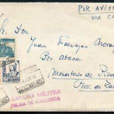 Sellos: GUERRA CIVIL, SOBRE CON VIÑETA, CORREO AÉREO CERTIFICADO, PALMA DE MALLORCA, 1938. Lote 131294991