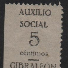 Sellos: GIBRALEON- HUELVA- 5 CTS, AUXILIO SOCIAL- ALLEPUZ Nº 1, VER FOTO. Lote 131321118