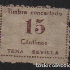 Sellos: TENA-SEVILLA. 15 CTS.-TIMBRE CONCERTADO- VER FOTO. Lote 131321966