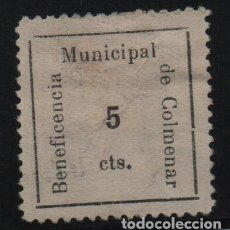 Sellos: COLMENAR.-MALAGA- 5 TCS. BENEFICENCIA- ALLEPUZ Nº 1. VER FOTO. Lote 131323950