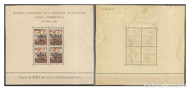 Sellos: Ayuntamiento de Barcelona Edifil 31/32*/** Mh/Mnh Navidad 1941 NL851 - Foto 2 - 131333818
