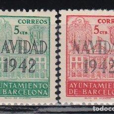 Sellos: BARCELONA, 1942 EDIFIL SH. 40 / 41 /*/. Lote 131641758