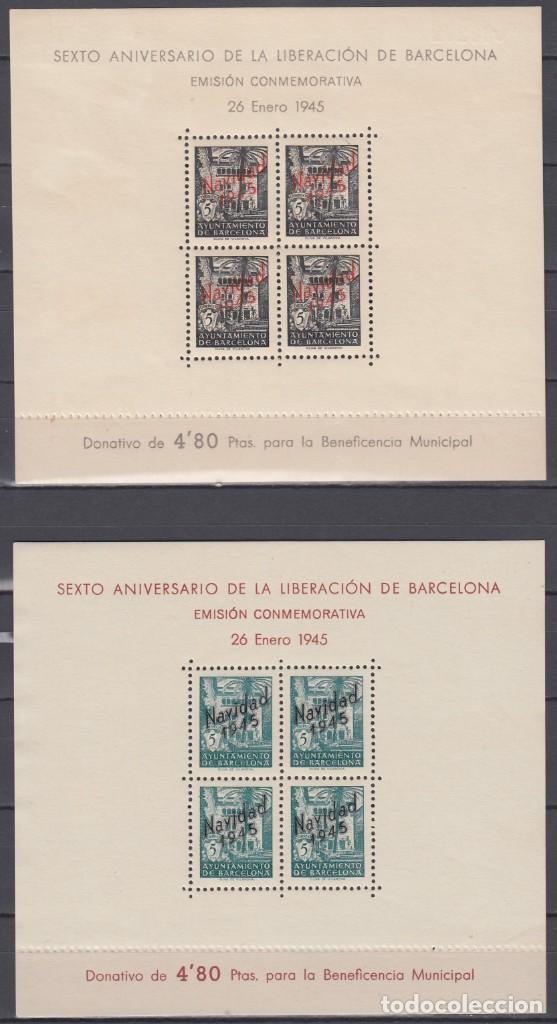BARCELONA, 1945 EDIFIL NE 29 / NE 30 /**/ (Sellos - España - Guerra Civil - Beneficencia)