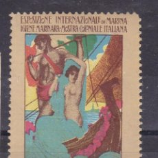 Sellos: AA22-VIÑETA EXPOSIZIONE INTERNACIONALE DI MARINA GENOVA 1914 ** SIN FIJASELLOS. 35 X 52 MM. Lote 131697962