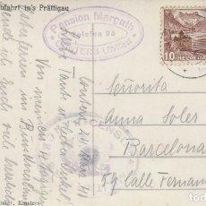 Sellos: CENSURA MILITAR DE BARCELONA, TARJETA POSTAL CIRCULADA DESDE SUIZA A BARCELONA EL AÑO 1941. Lote 131718322