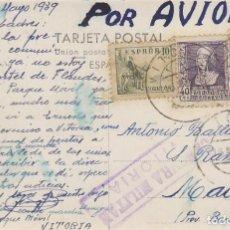 Sellos: CENSURA MILITAR DE VITORIA, TARJETA CIRCULADA EL 13-3-1939. Lote 131719590