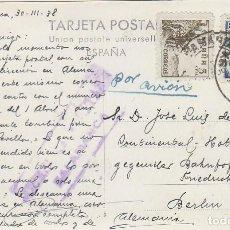 Sellos: CENSURA MILITAR DE SALAMANCA CON TINTA VIOLETA, TARJETA CIRCULADA A ALEMANIA EL 30-3-1938. Lote 131722726