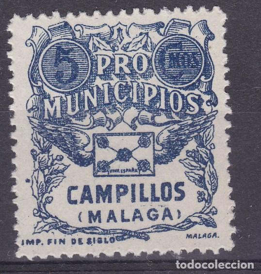 AA4- GUERRA CIVIL. LOCAL PRO MUNICIPIOS CAMPILLOS MÁLAGA. ** SIN FIJASELLOS LUJO (Sellos - España - Guerra Civil - Viñetas - Nuevos)