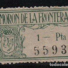 Sellos: MORON DE LA FRONTERA,-SEVILLA- 1 PTA, SELLO MUNICIPAL- VER FOTO. Lote 131779294
