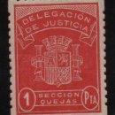 Sellos: DELEGACION DE JUSTICIA, 1 PTA, -SECCION QUEJAS- REPUBLICA- NUEVO-VER FOTO. Lote 131779562