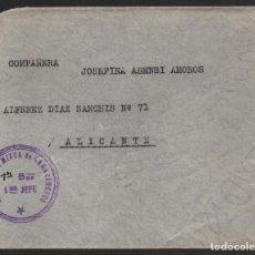 Sellos: CARTA DE MADRID A ALICANTE- 6ª BRIGADA MIXTA DE CARABINEROS- 1ER. BON. 1 ER. JEFE, VER FOTOS. Lote 132607670