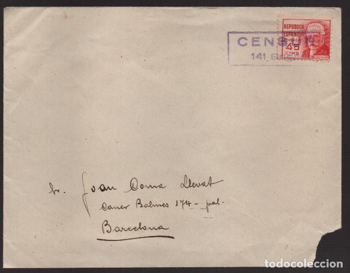 CARTA, 32 DIVISION - 141 BRIGADA-564 BON, LLEIDA C.M. --CENSU 1º 141 BRIGADA, VER FOTOS (Sellos - España - Guerra Civil - De 1.936 a 1.939 - Cartas)