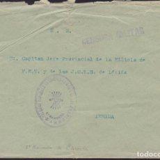 Sellos: CM3-14- GUERRA CIVIL CARTA MARCA MANDO 5ª BANDERA FALANGE . Lote 132754998