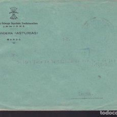 Sellos: CM3-15- GUERRA CIVIL CARTA MARCA FALANGE MANDO 2ª BANDERA ASTURIAS. Lote 132757690