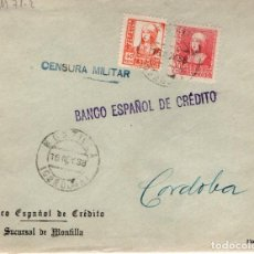 Sellos: CENSURA MILITAR. MONTILLA (CORDOBA). Lote 132945294