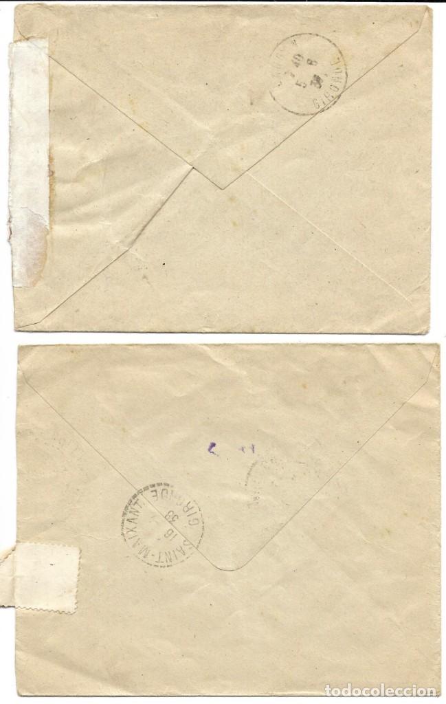 Sellos: 1938 lote 2 Cartas Historia Postal Guerra Civil. Molina de Aragon (Guadalajara) a Francia. CENSURA - Foto 2 - 133186618