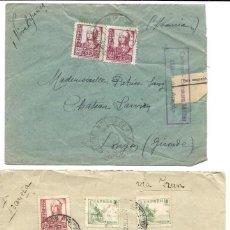 Stamps - 1937-8 lote 2 Cartas Historia Postal Guerra Civil. Molina de Aragon (Guadalajara) a Francia. CENSURA - 133186782