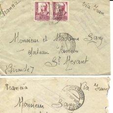Stamps - 1938 lote 3 Cartas Historia Postal Guerra Civil. Molina de Aragon (Guadalajara) a Francia. CENSURA - 133187234