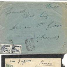 Stamps - 1938 lote 2 Cartas Historia Postal Guerra Civil. Molina de Aragon (Guadalajara) a Francia. CENSURA - 133187274
