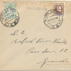 Sellos: EDIFIL 815. CARTA DE ALCALA LA REAL - JAEN A GRANADA.. Lote 133210242
