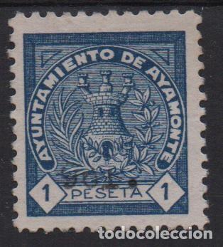 AYAMONTE, 1 PTA, SELLO MUNICIPAL- VER FOTO (Sellos - España - Guerra Civil - De 1.936 a 1.939 - Usados)