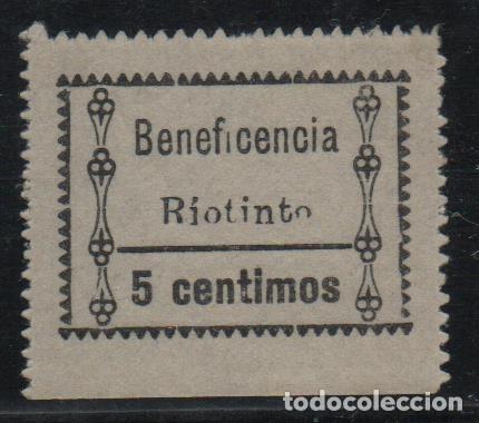 RIO TINTO, 5 CTS, BENEFICENCISA,VARIEDAD EN LA O - VER FOTO (Sellos - España - Guerra Civil - De 1.936 a 1.939 - Usados)