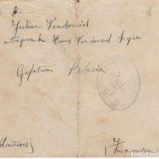 Sellos: F27-54-GUERRA CIVIL. ESPECTACULAR CARTA FRENTE JARAMA PINGARRON- ALCAÑICES ZAMORA 1937. CON TEXTO. Lote 133475234