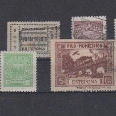 Sellos: ESTEPONA (MÁLAGA). LOTE DE 6 SELLOS NACIONALES. Lote 133840970